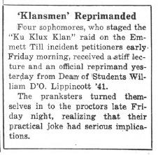 """""""'Klansmen' Reprimanded"""""""