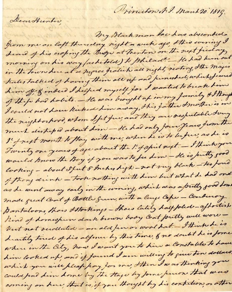 Letter from Erkuries Beatty