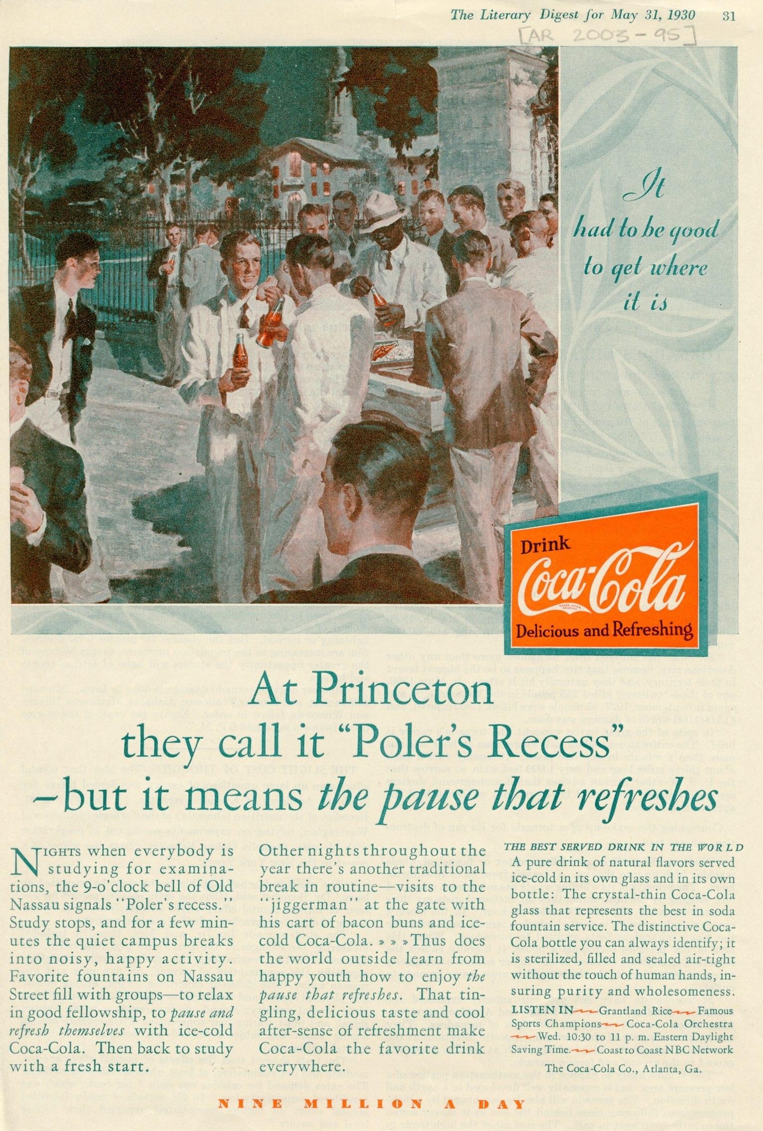 1930 Coca-Cola Ad