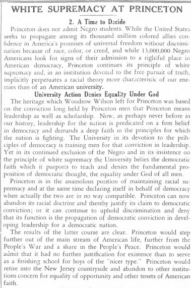 Daily Princetonian 30 September 1942