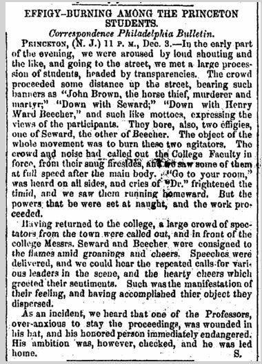 """""""Effigy-Burning among the Princeton Students"""""""