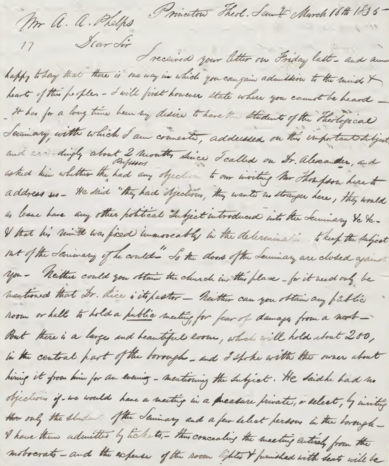 Letter from Lewis C. Gunn