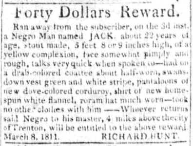 """Forty Dollars Reward"" for Jack"