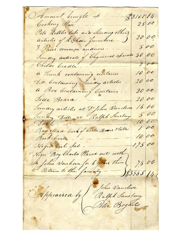 Estate Inventory of John Maclean Sr.