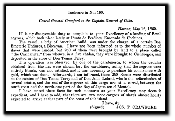 Letter From Joseph T  Crawford To The Captain General Of Cuba