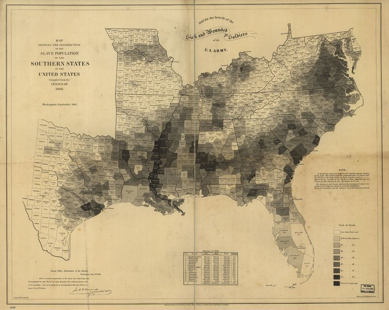 Slave Population of the Southern States in 1860