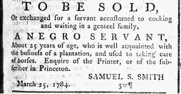 Nj Gazette March 302C 1784