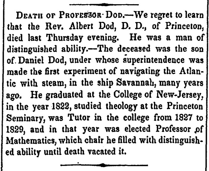 """Death of Professor Dod"""