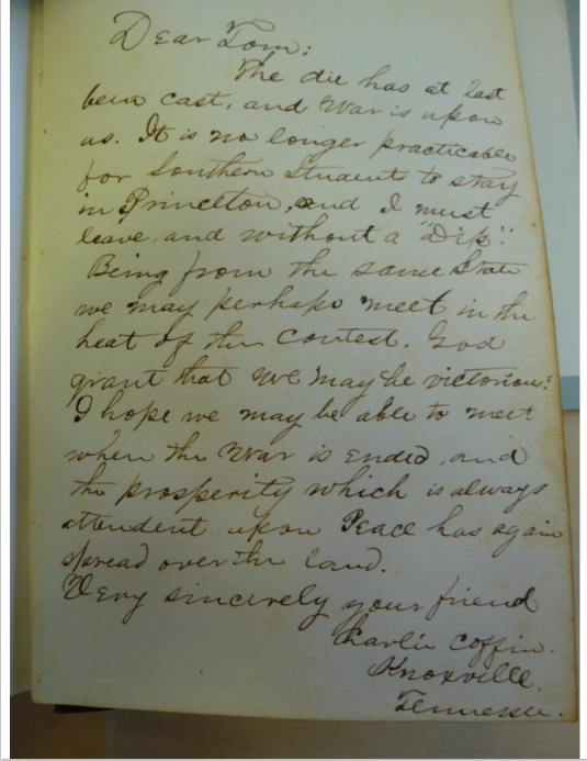 Autograph Book Entry by Charles Coffin
