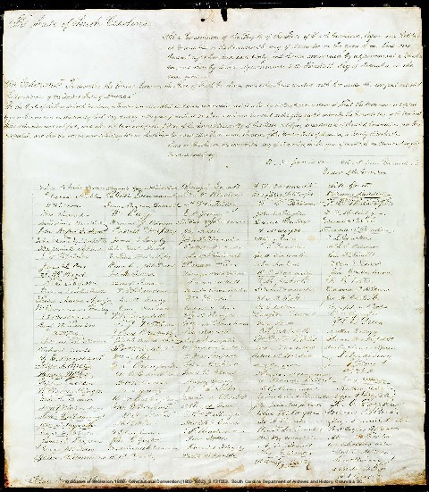 South Carolina Ordinance of Secession