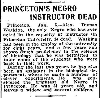 """Princeton's Negro Instructor Dead"""