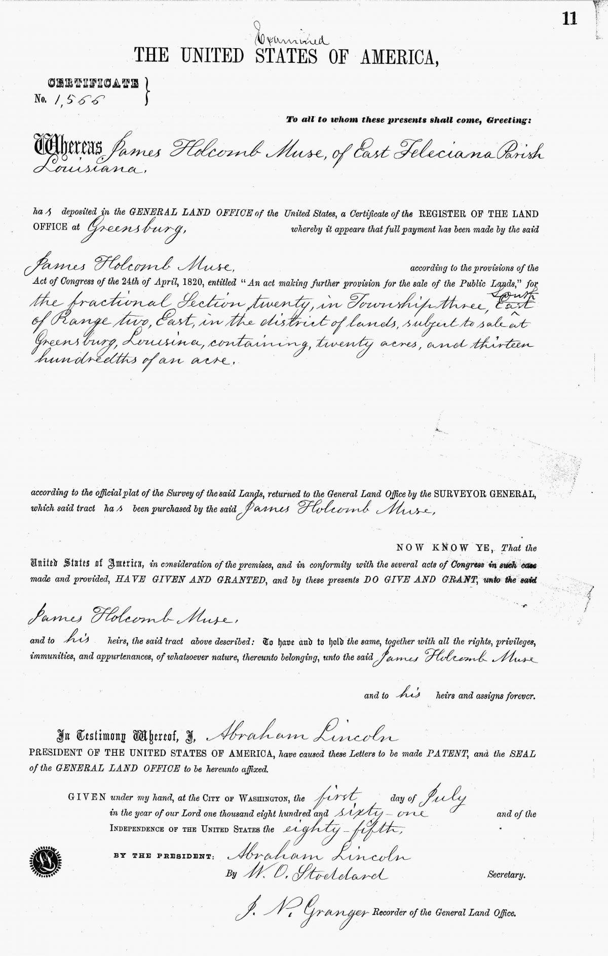 1861 Ancestry Print U S  General Land Office Records 1796 1907 Pdf
