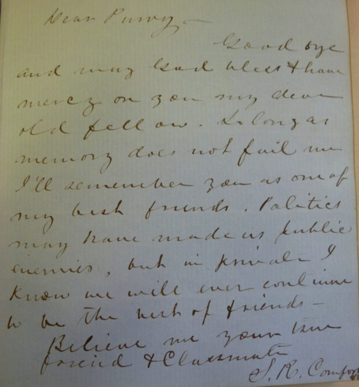 Princeton And Secession Example Of Autograph Book Signing Comfort To Purviance Jpg