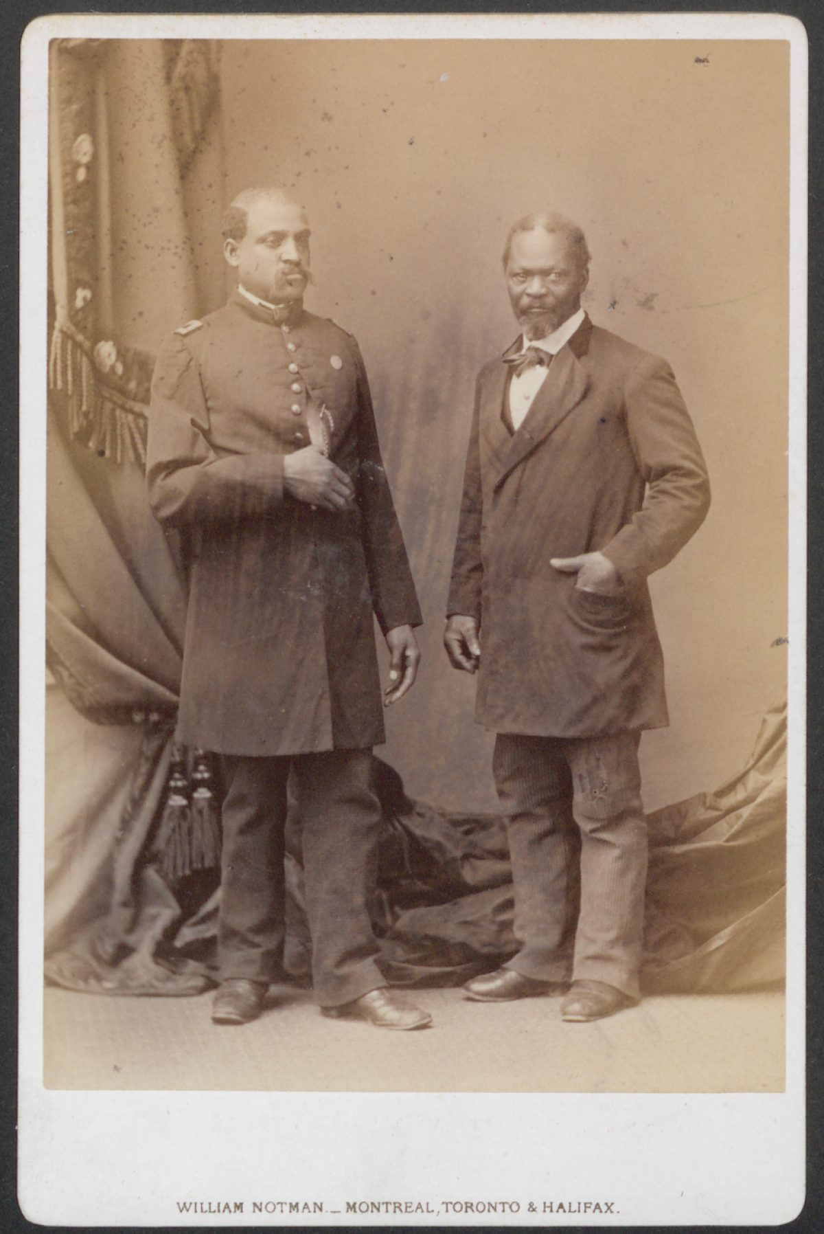 James C. Johnson and Unidentified Soldier