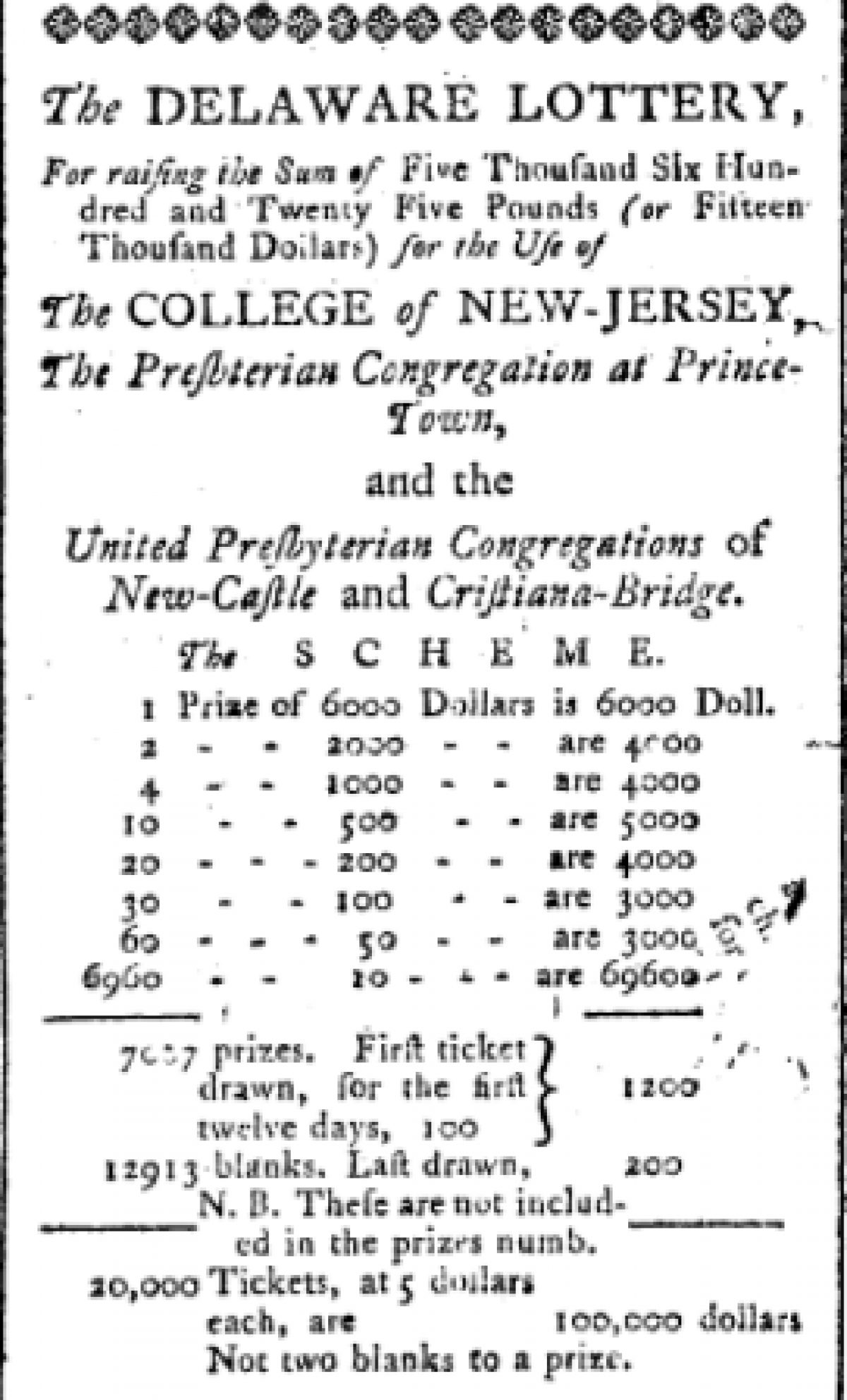 """""""The Delaware Lottery"""""""