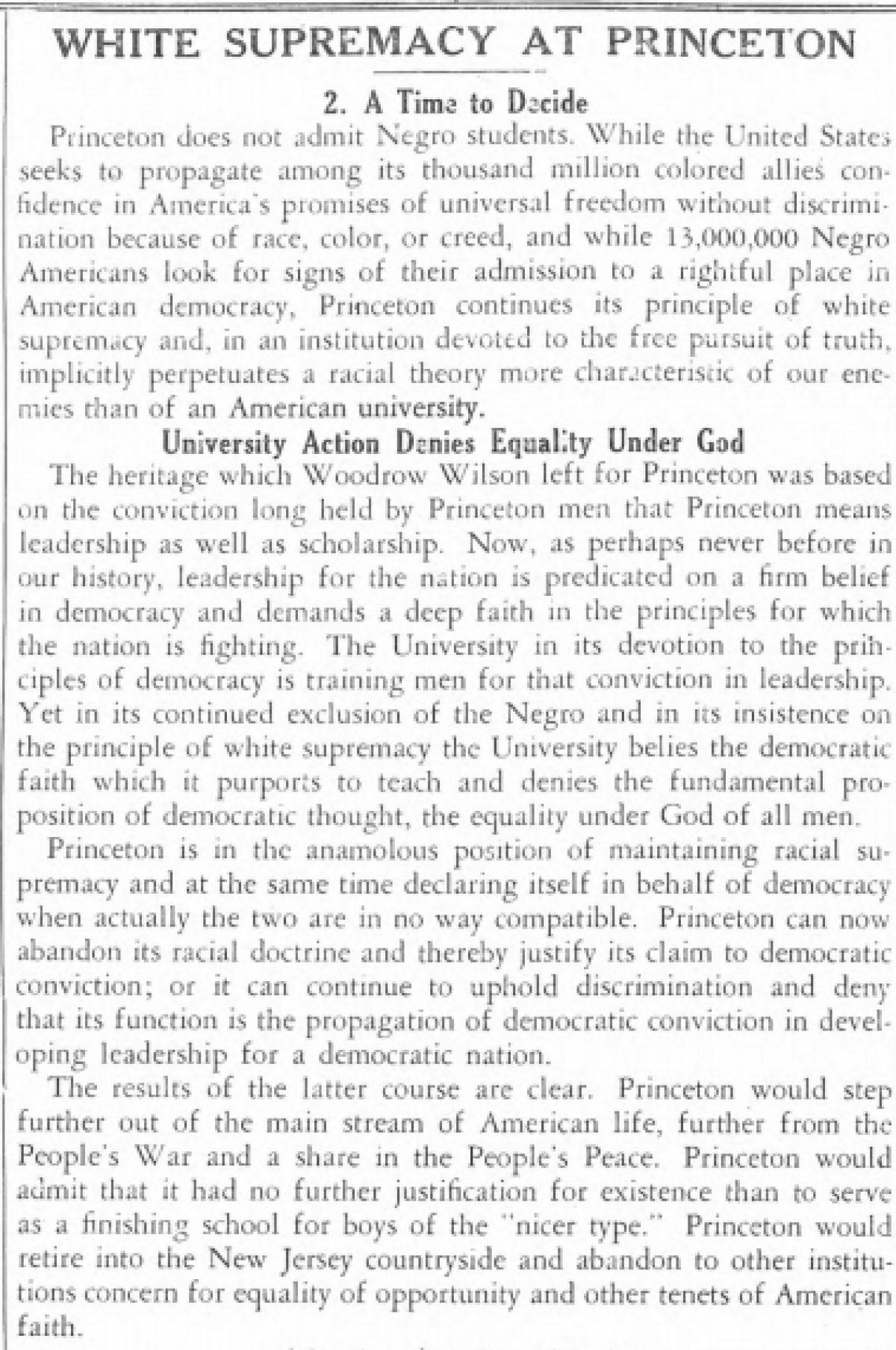 Daily Princetonian 30 September 1942