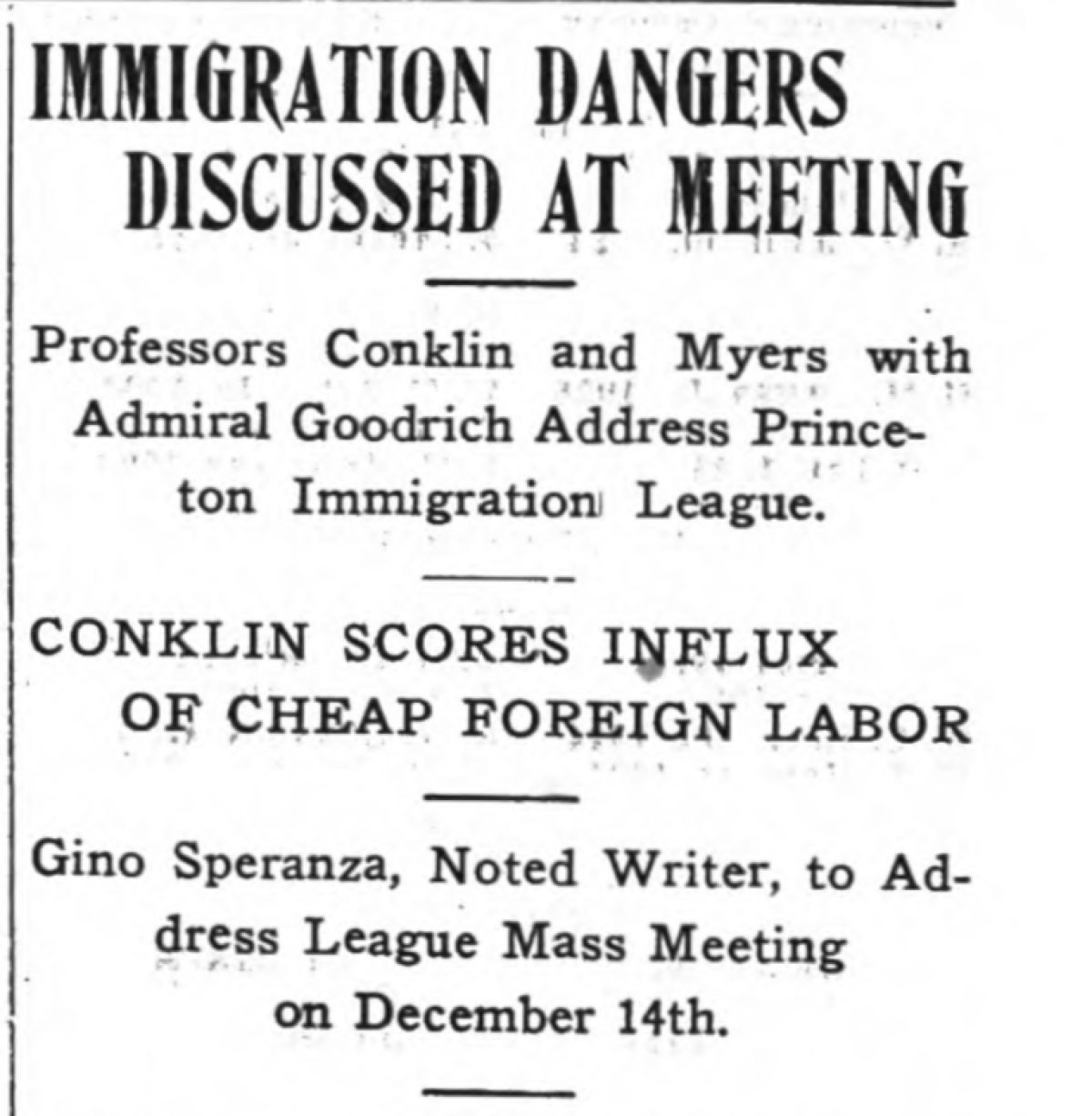 """Immigration Dangers Discussed At Meeting"""
