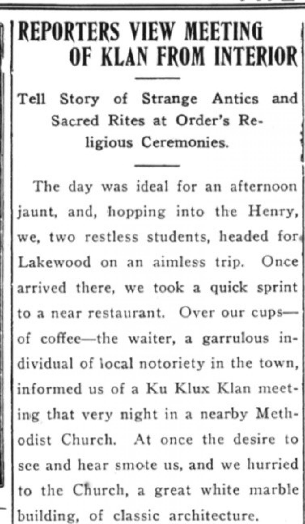 Daily Princetonian 21 March 1924 Reporters crop