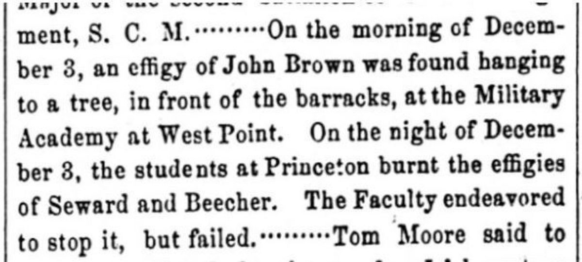 """An Effigy of John Brown"""