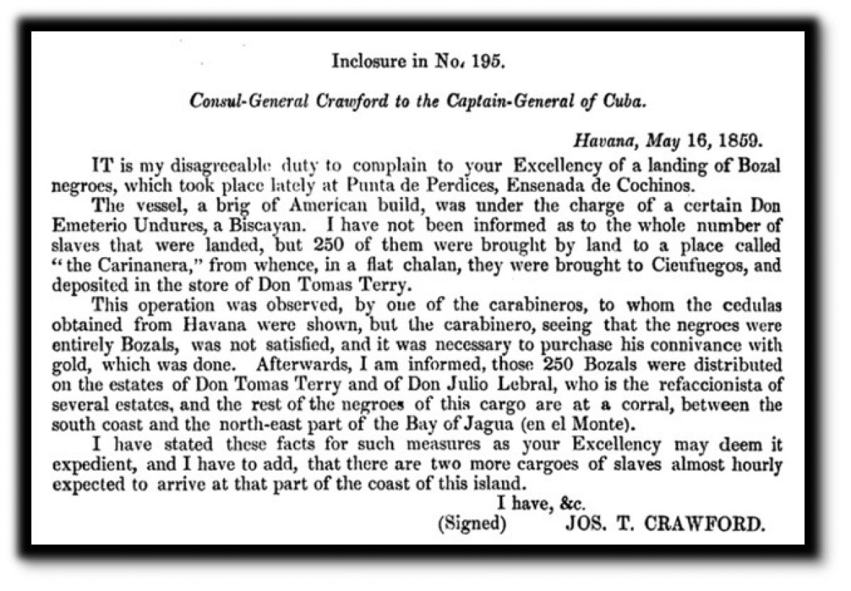 Letter from Joseph T. Crawford to the Captain-General of Cuba