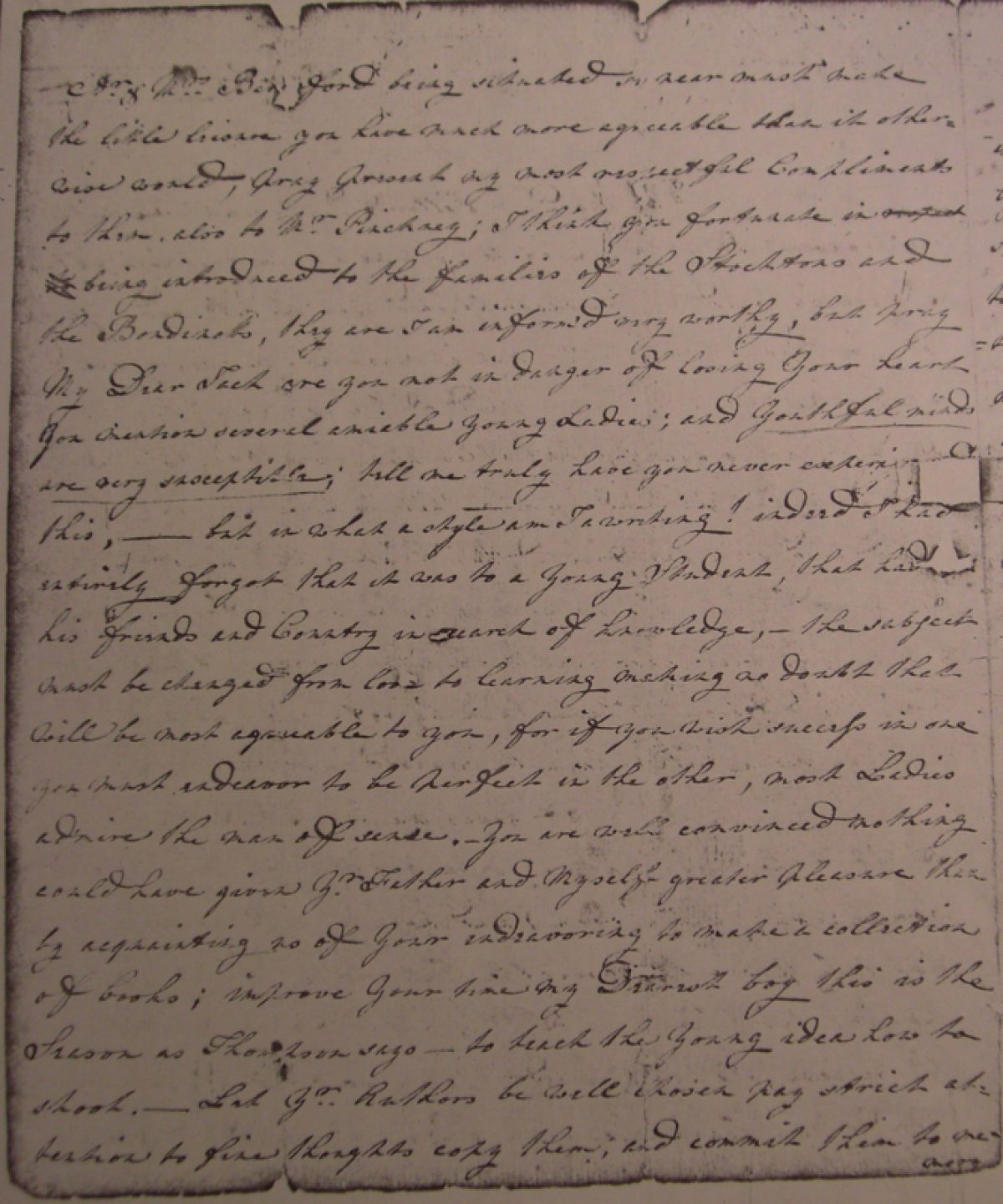 Letter From Sarah Gibbes To John Gibbes