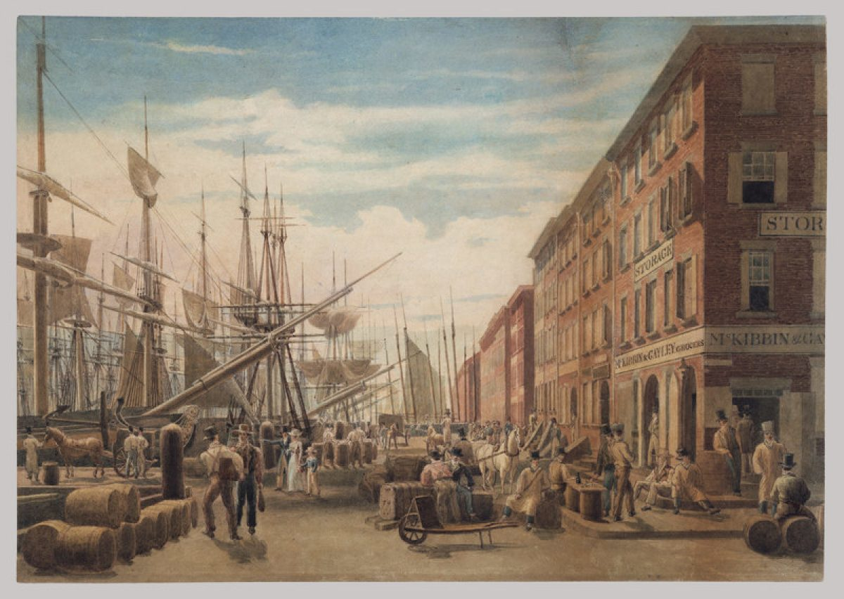 View of South Street, from Maiden Lane, New York City
