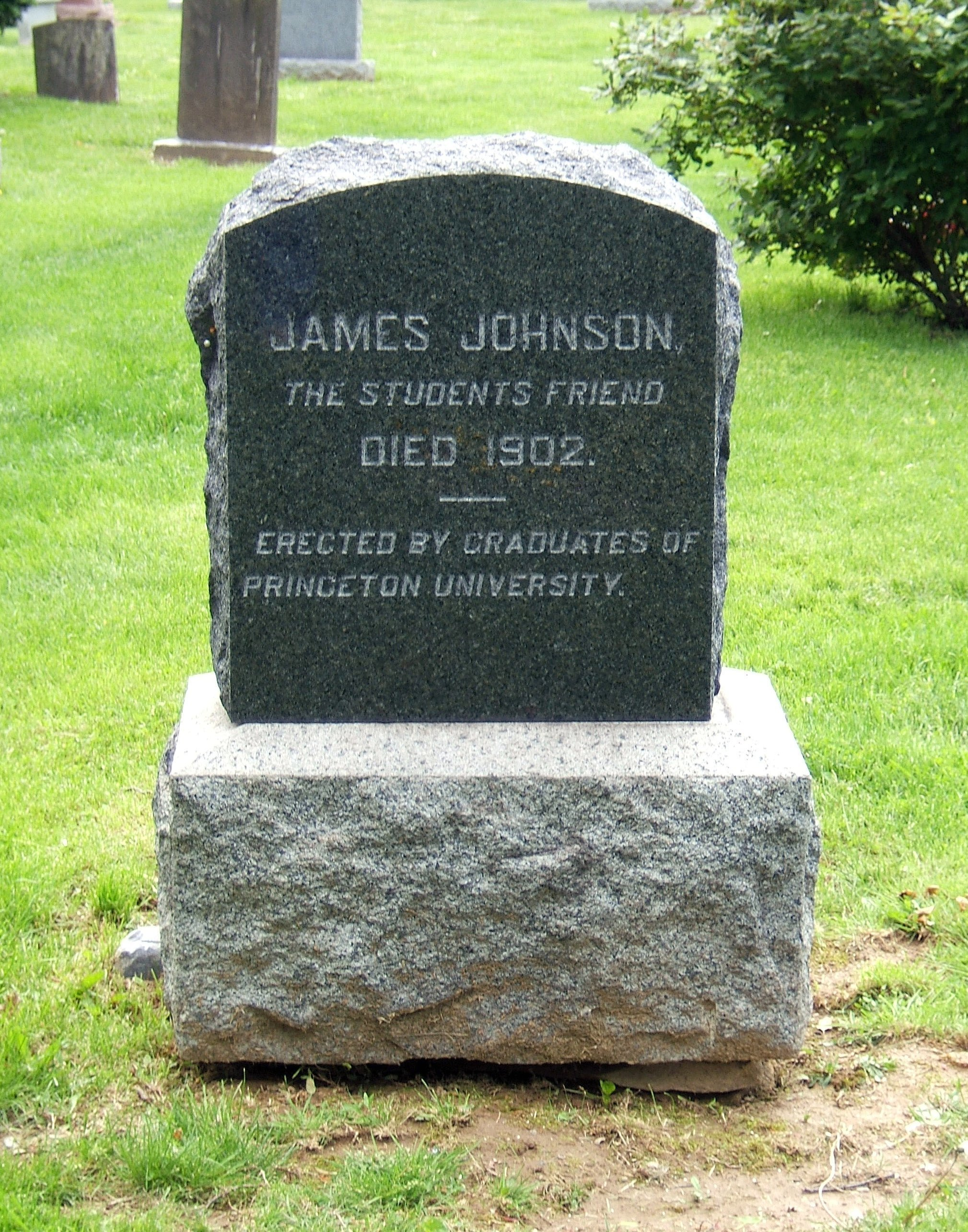 Gravestone of James C. Johnson