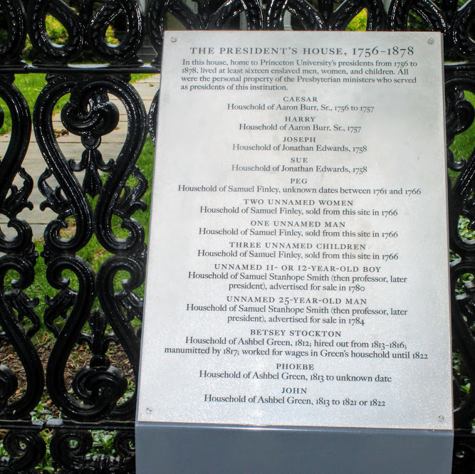 Memorial Plaque at the President's House