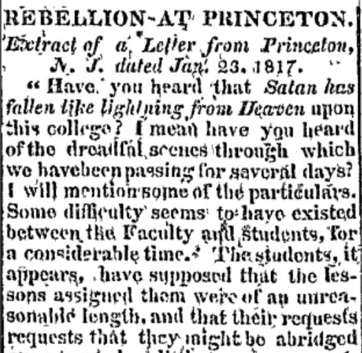 """Rebellion at Princeton"""